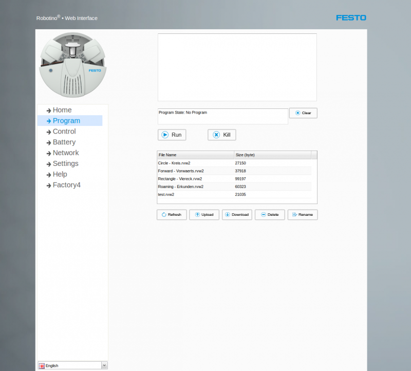 Robotino Web Interface